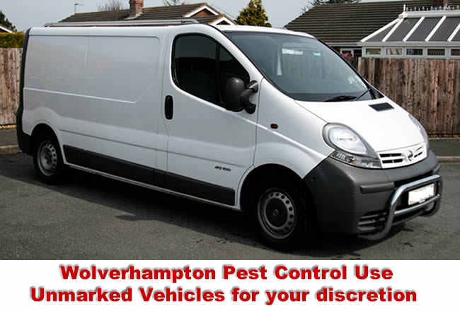 Wolverhampton Pest Control Services use unmarked vehicles for absolute discretion.